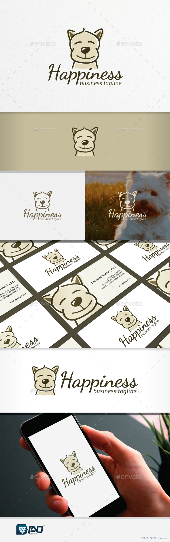 Happiness - Animals Logo Templates