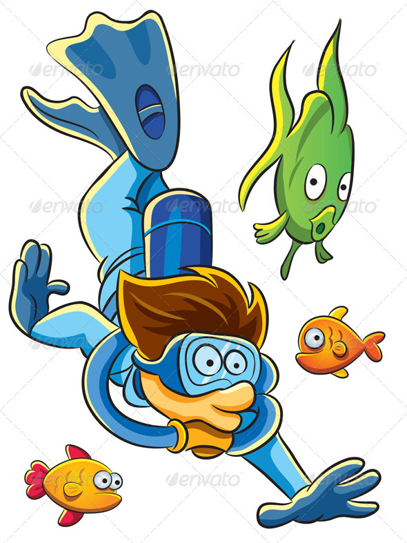 Diving Man - People Characters