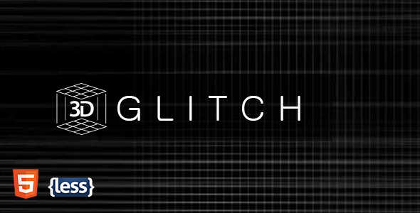 Glitch – Glitchy Animated Coming Soon Template
