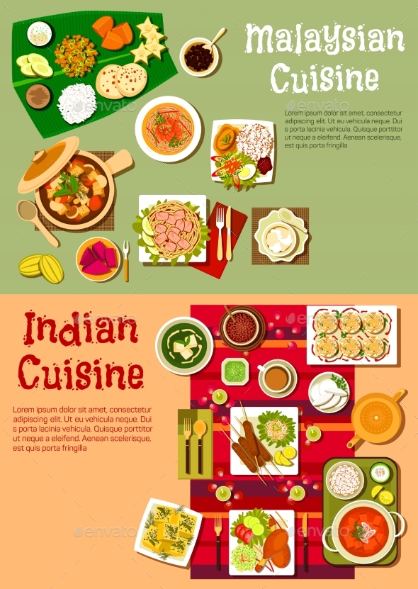 National Indian and Malaysian Cuisine - Food Objects