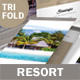Beach Resort Trifold Brochure 2 - GraphicRiver Item for Sale