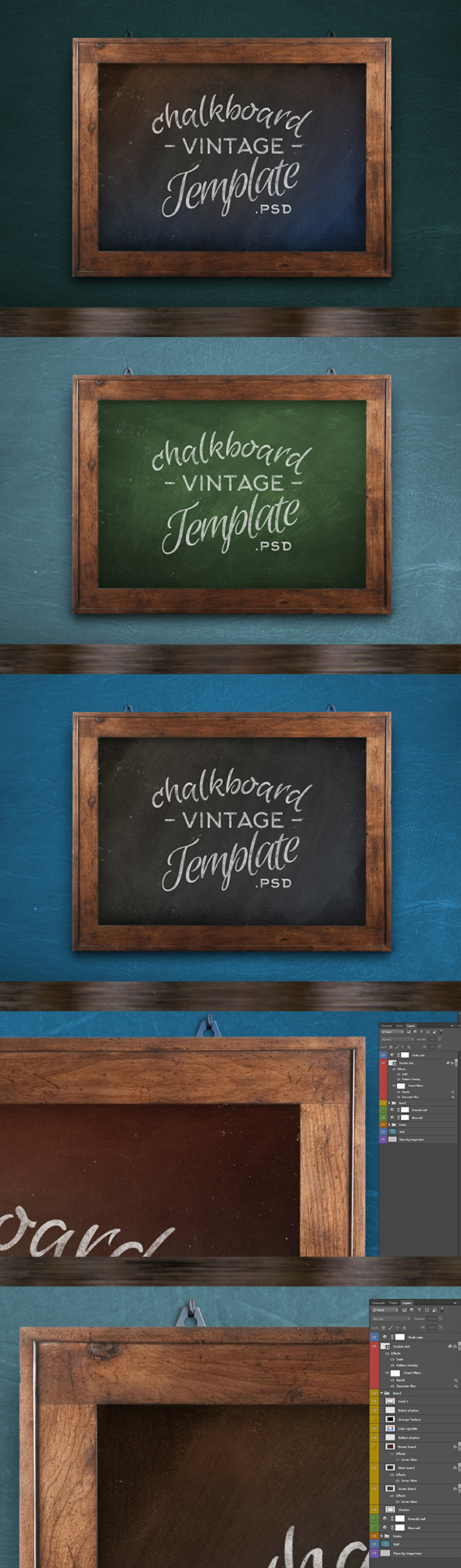 Chalkboard Realistic Template - Photoshop Add-ons
