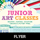 Junior Art Free Trial Class Flyer template - GraphicRiver Item for Sale