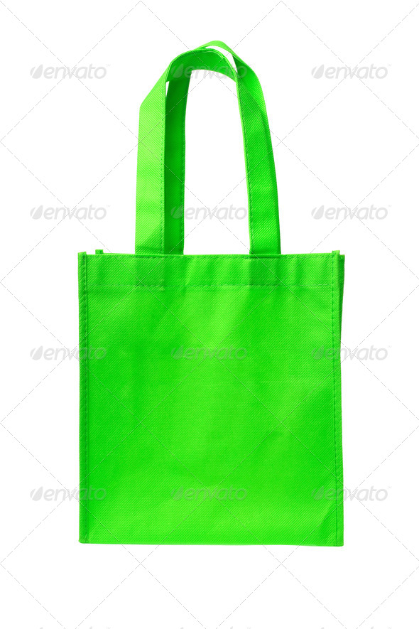 Green Shopping Bag - Stock Photo - Images