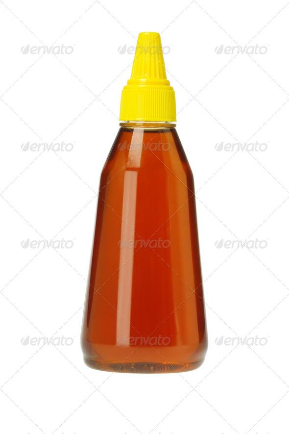 Plastic Bottle of Honey - Stock Photo - Images