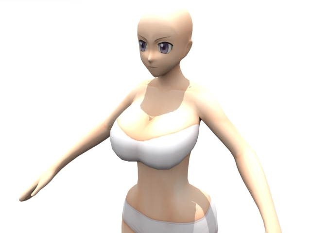 High Resolution Curvy Anime - 3DOcean Item for Sale