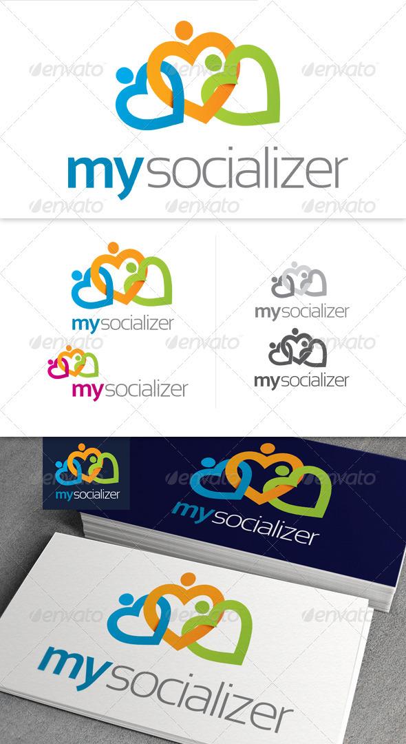 My Socializer Logo - Symbols Logo Templates