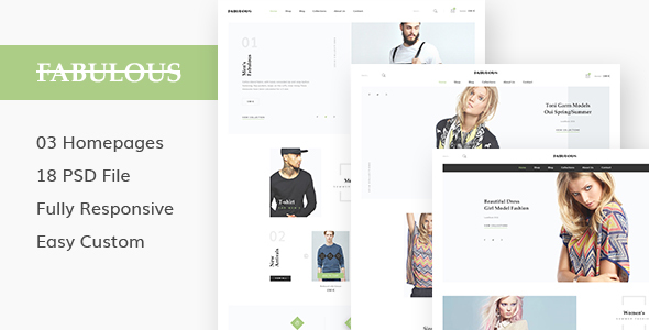 FABULOUS - eCommerce & Blog PSD Theme