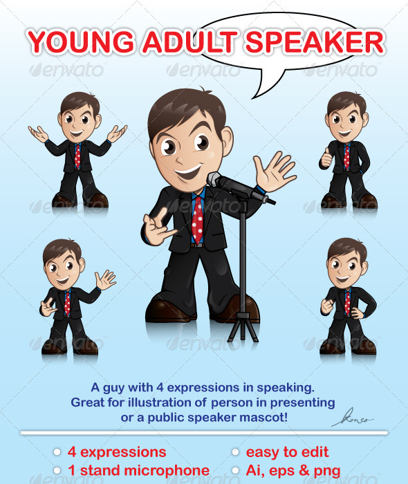 Young Adult Speaker - People Characters