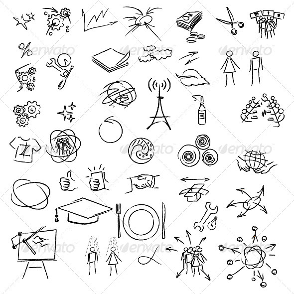 Freehand elements - Objects Vectors