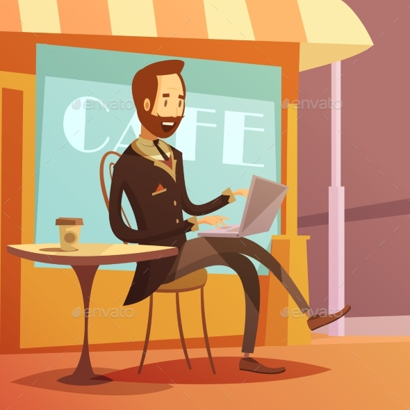 Businessman Working Illustration  - Concepts Business