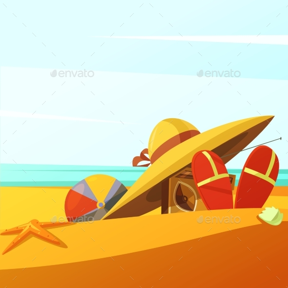 Beach Wears Illustration - Travel Conceptual
