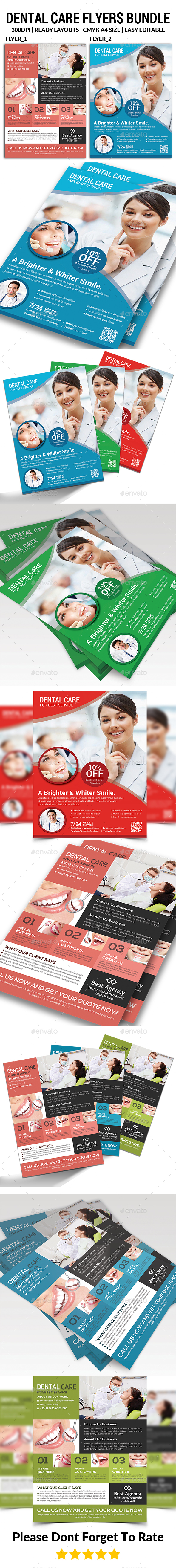 Dental Clinic Flyers Bundle - Corporate Flyers