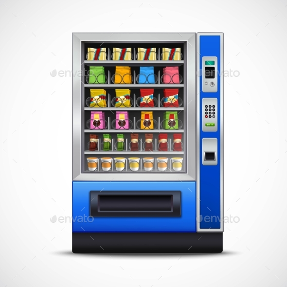 Realistic Snacks Vending Machine  - Food Objects
