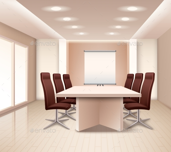 Realistic Meeting Room Interior - Buildings Objects
