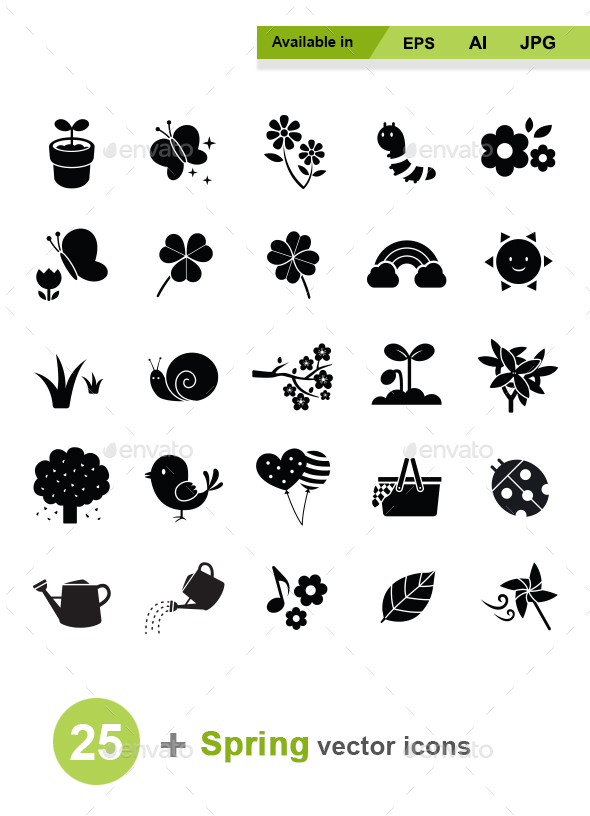 Spring Vector Icons - Seasonal Icons