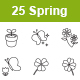 Spring Outlines Vector Icons - GraphicRiver Item for Sale