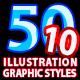 50 Illustrator Graphic Styles Vol.10 - GraphicRiver Item for Sale
