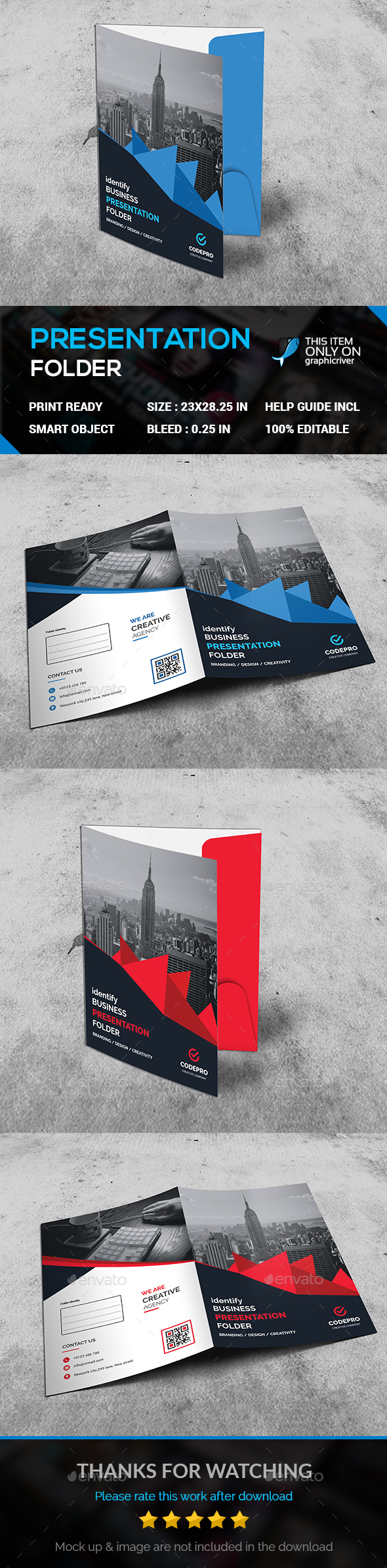 CORPORATE PREAENTATION FOLDER - Stationery Print Templates