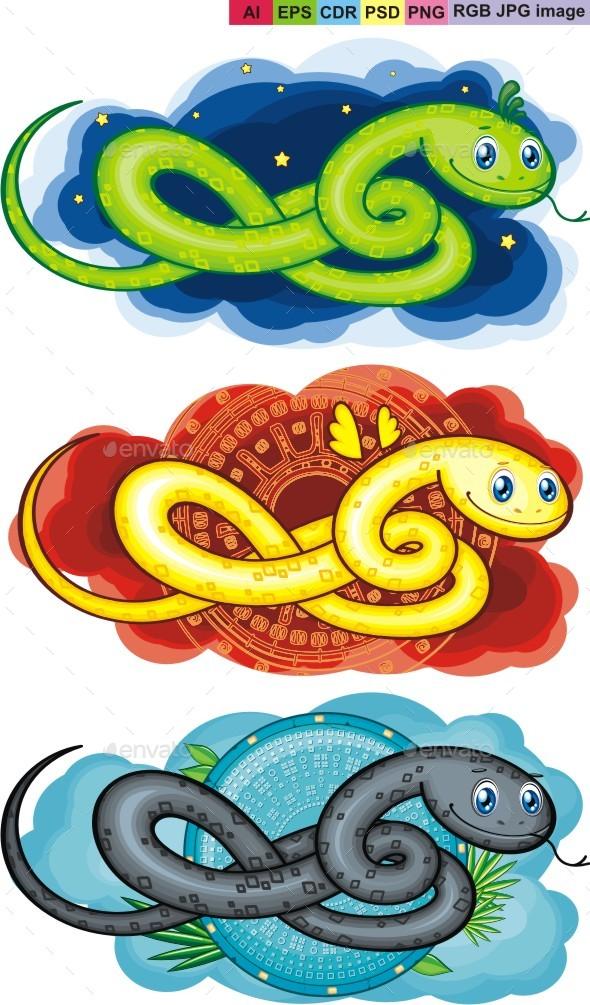 Snake Symbol - Animals Characters