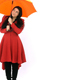Woman Presents Title with Umbrella - VideoHive Item for Sale