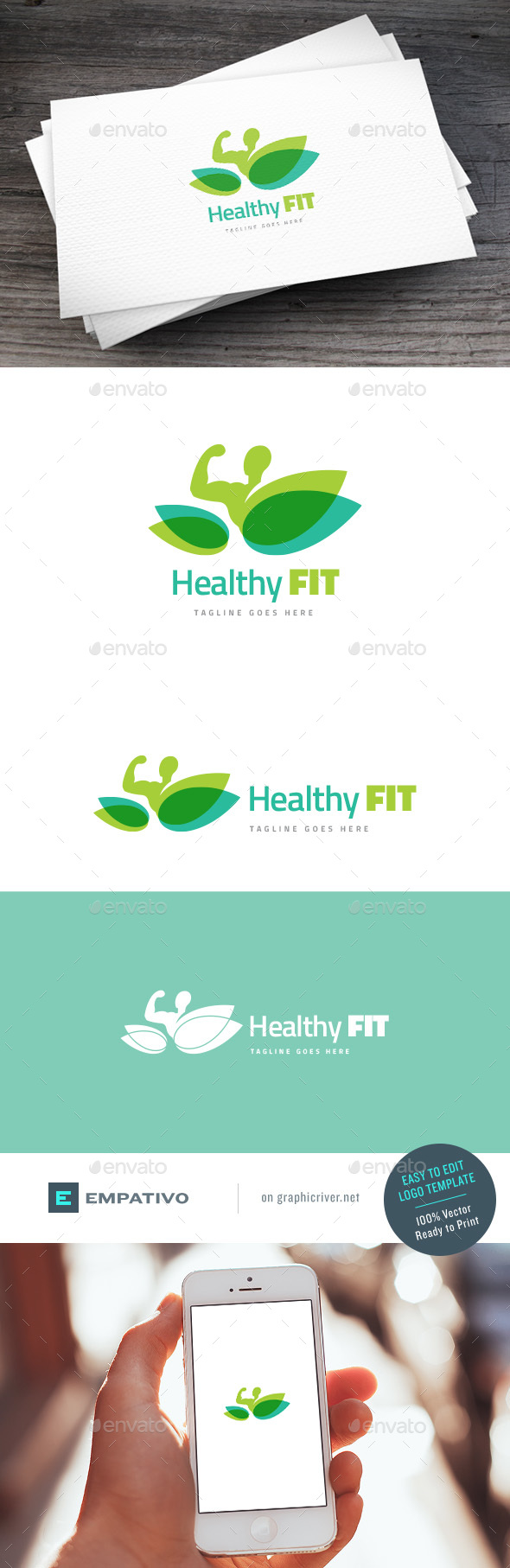 Healthy Fit Logo Template - Humans Logo Templates