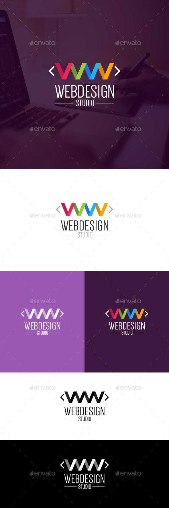 Web Design Studio Logo Template - Letters Logo Templates