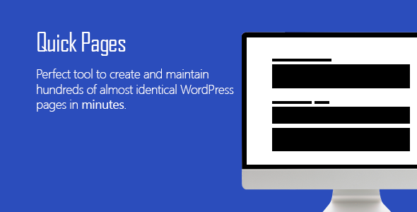 Quick Pages - WordPress SEO Tool - CodeCanyon Item for Sale