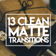 13 Clean Matte Transitions - VideoHive Item for Sale