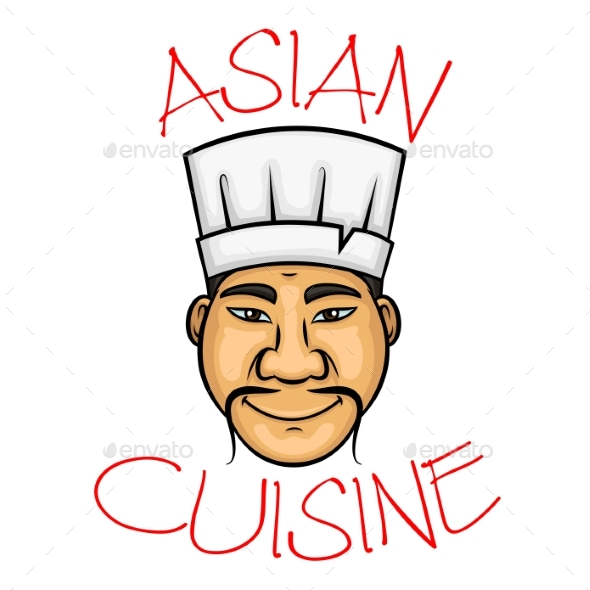 Cartoon Asian Cuisine Chef Character - People Characters