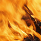 Large Flames Burning Wood Slowly - VideoHive Item for Sale