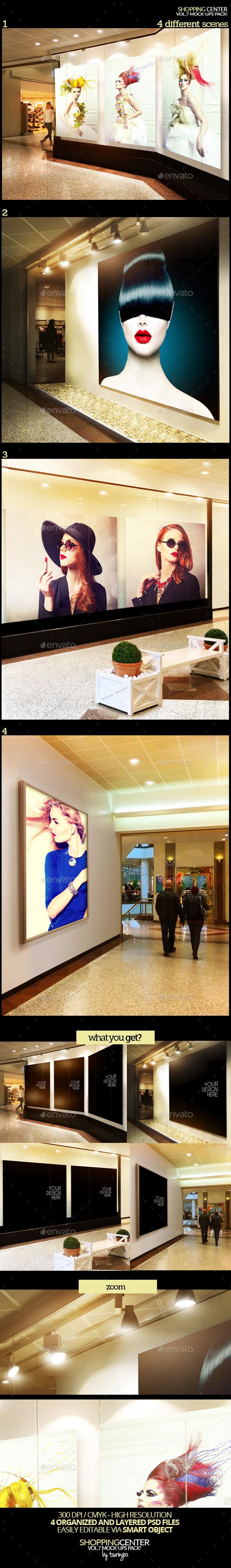 Shopping Center Vol.7 Mock-Ups Pack - Signage Print