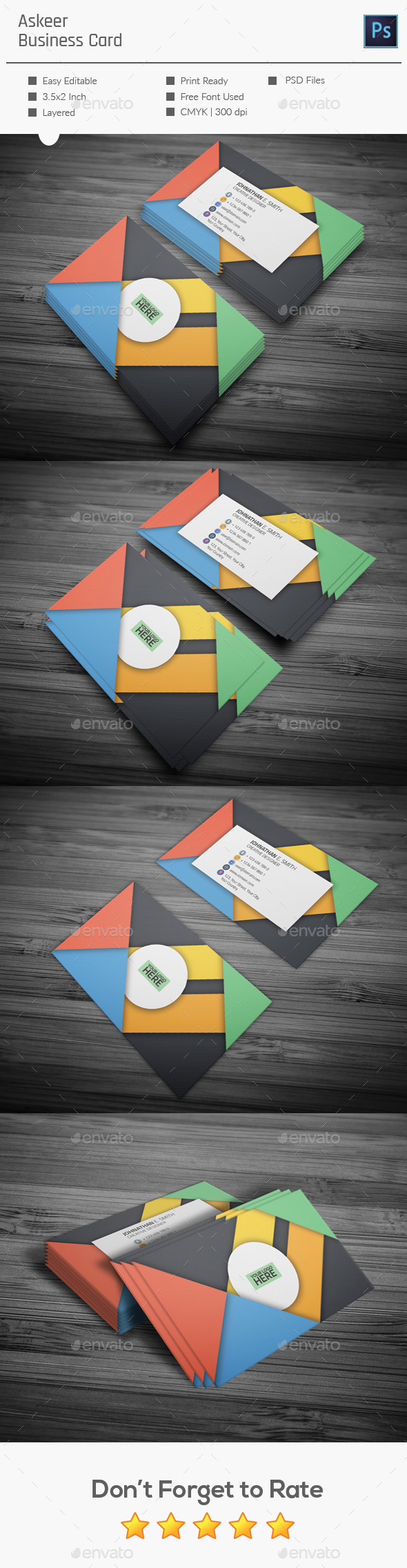Askeer Business Card  - Creative Business Cards