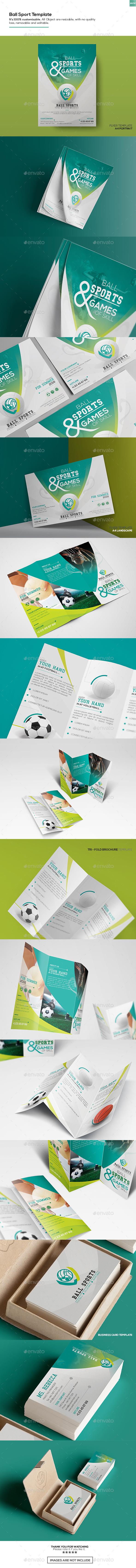 Ball Sport - Set Template - Informational Brochures