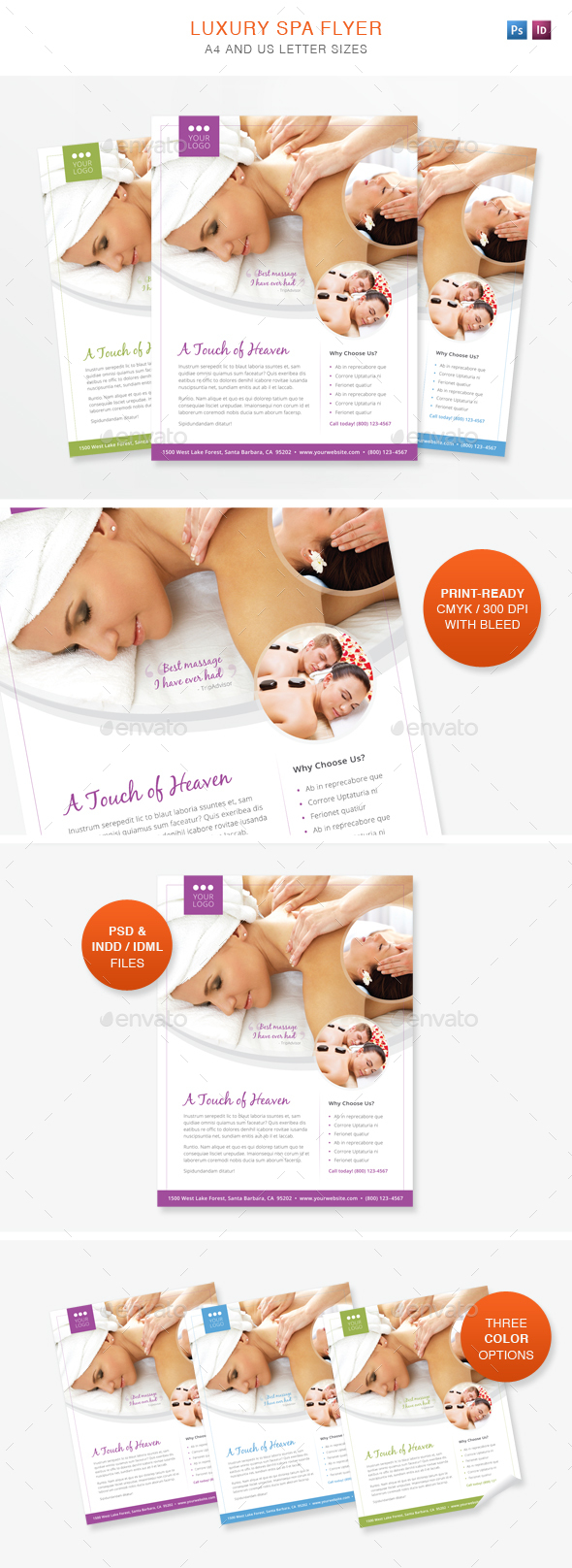 Luxury Spa Flyer - Flyers Print Templates