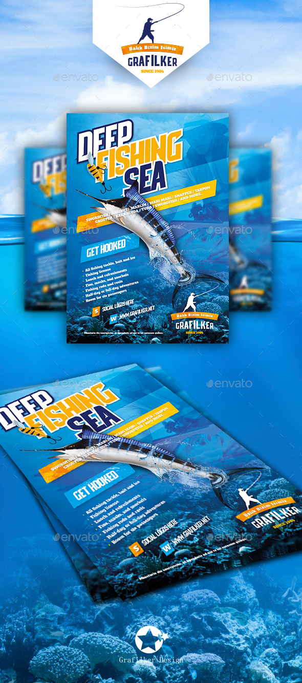 Fishing Flyer Templates - Corporate Flyers
