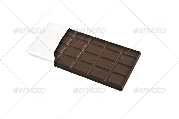 Chocolate on a foil - Stock Photo - Images