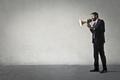 Man with loudspeaker - PhotoDune Item for Sale