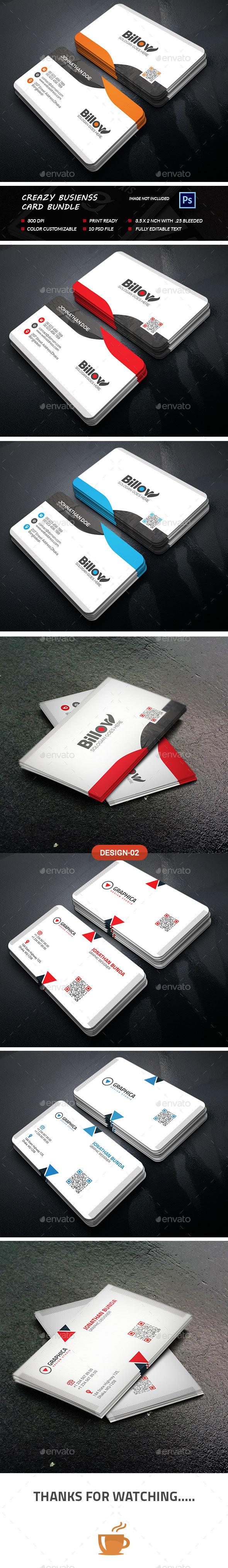 Crazy business card bundle by sixlock graphicriver crazy business card bundle business cards print templates colourmoves Gallery