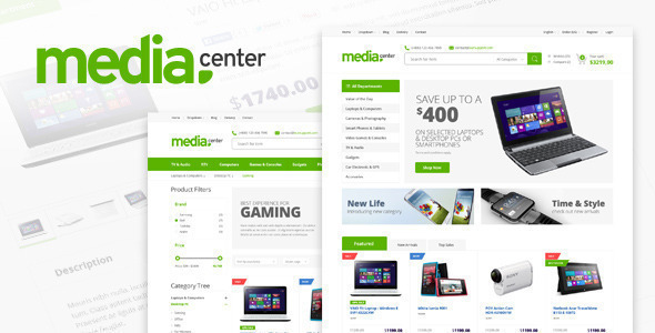 Image of Electronics Store Responsive Shopify Theme - MediaCenter
