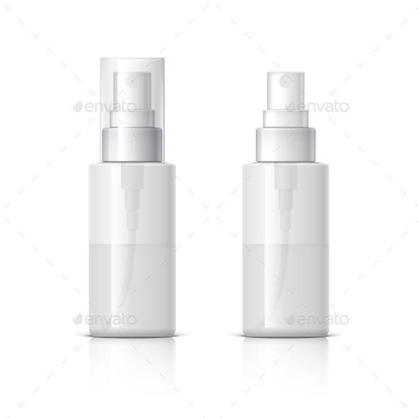Realistic Cosmetic Bottle Can Sprayer Container - Retail Commercial / Shopping