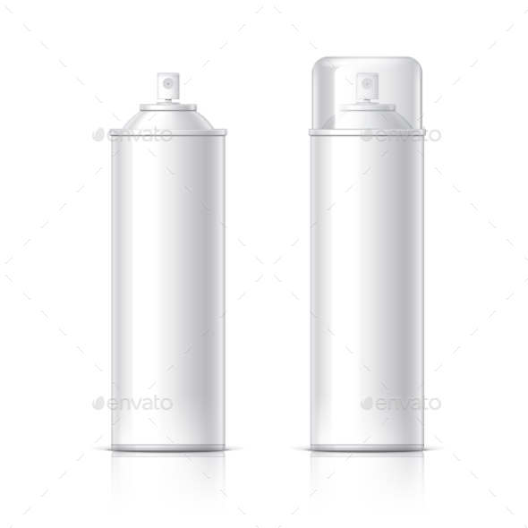 Realistic White Cosmetics Bottle Can Spray - Retail Commercial / Shopping