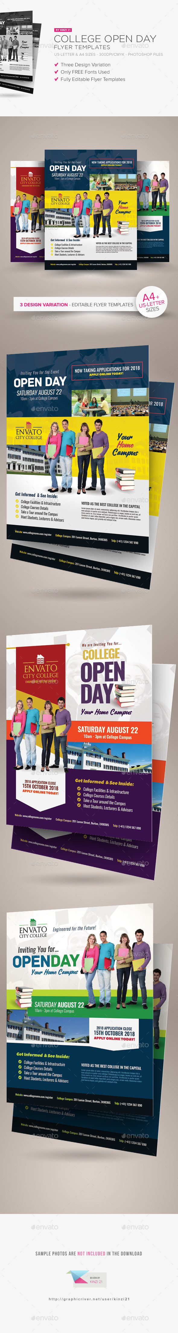 College Open Day Flyer Templates - Miscellaneous Events