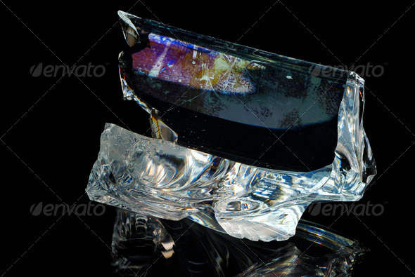 Broken Piece Of Glass - Stock Photo - Images