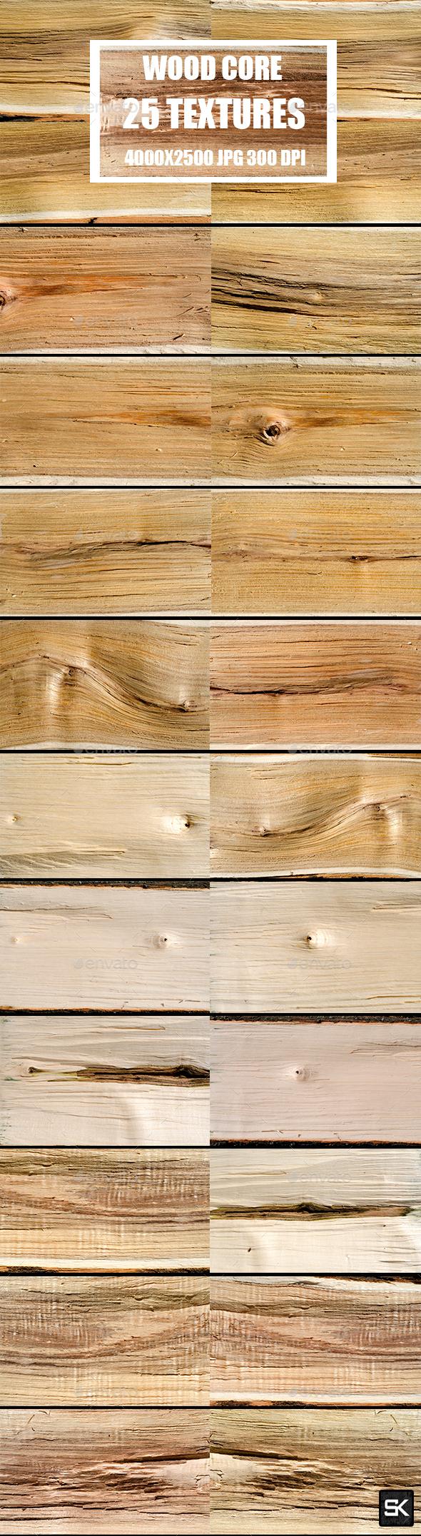 Wood Core Textures - Wood Textures