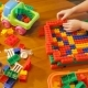 Little Girl Playing With Toy Blocks - VideoHive Item for Sale