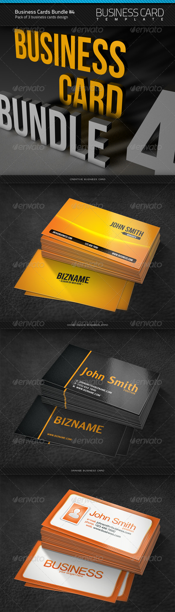 Business Cards Bundle #4 - Corporate Business Cards