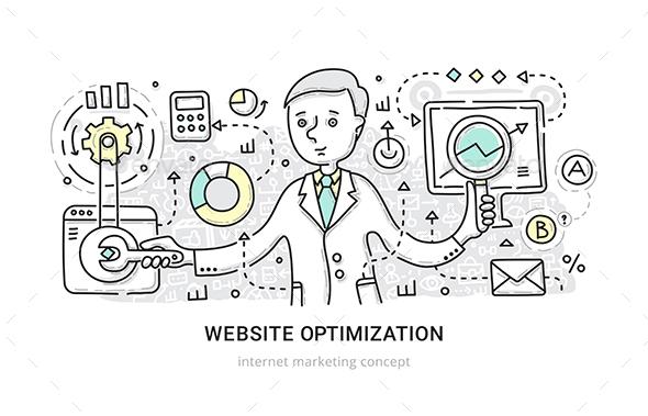 Website Optimization Concept - Web Technology