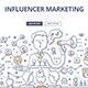 Influencer Marketing Doodle Concept - GraphicRiver Item for Sale