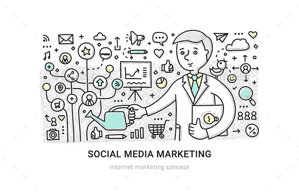 Social Media Marketing Concept - Media Technology